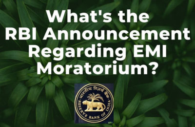 An RBI Announcement Regarding EMI Moratorium